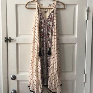 Knox Rose peasant dress with tassels